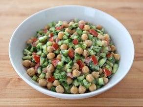 Creamy Israeli Salad with Dill
