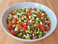 Israeli Salad with Feta and Mint