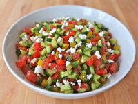 Israeli Salad with Feta and Mint