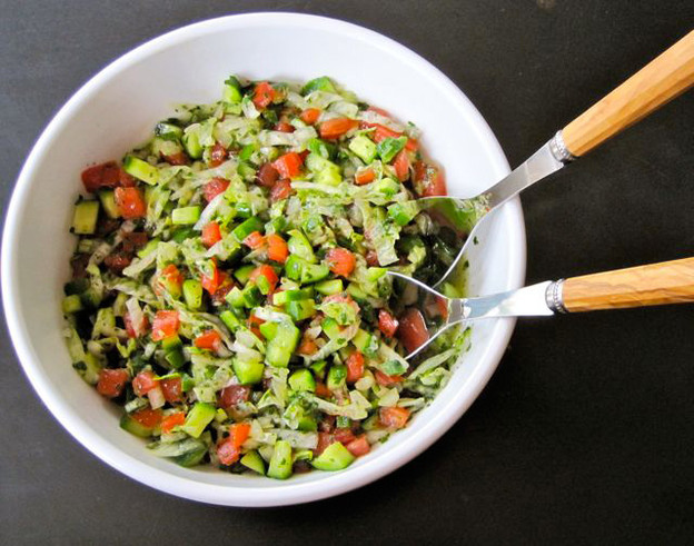Sandra's Mexican Israeli Salad - Zesty Salad Recipe