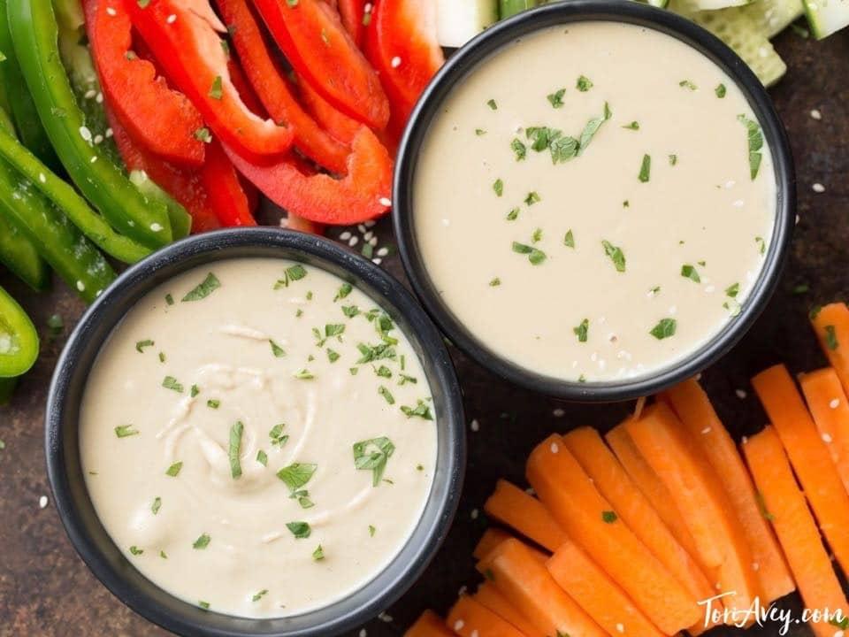 Tahini Sauce Recipe - How to make creamy, delicious tahini sauce with garlic and fresh lemon juice.