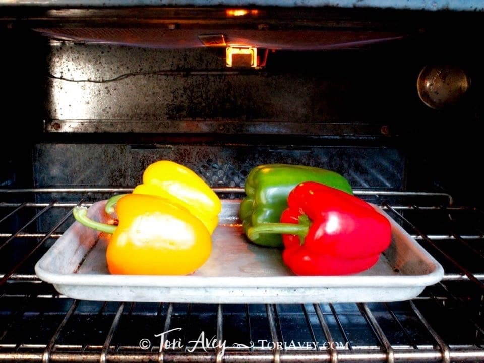 How to Roast Bell Peppers - Easy methods for cooking and charring bell peppers for a rich smoky flavor, from stovetop to oven to grill.