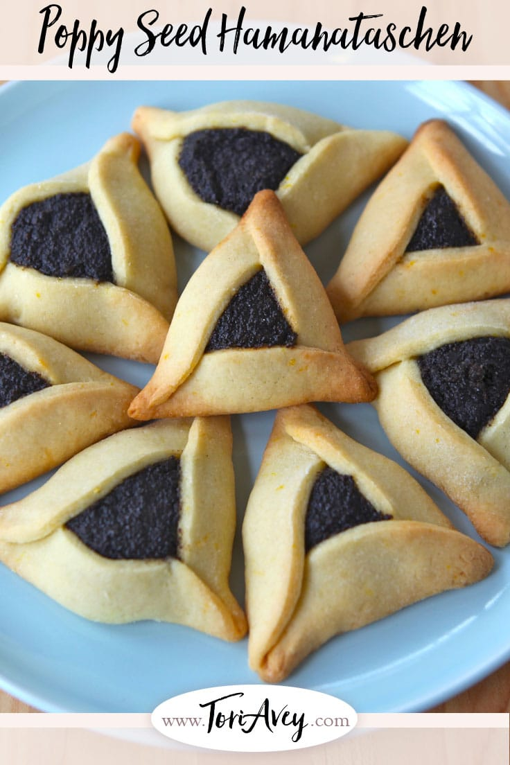 Pinterest pin for Poppy Seed Filling for Hamantaschen on ToriAvey.com