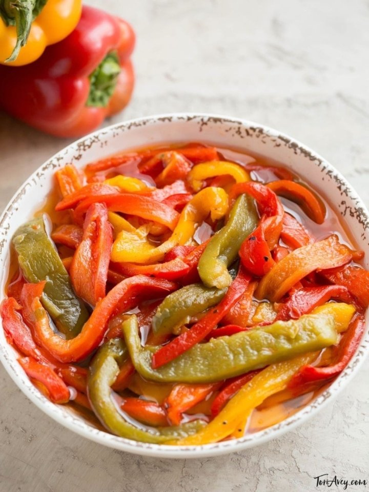 Roasted Pepper Salad Smoky Bell Pepper Side Dish