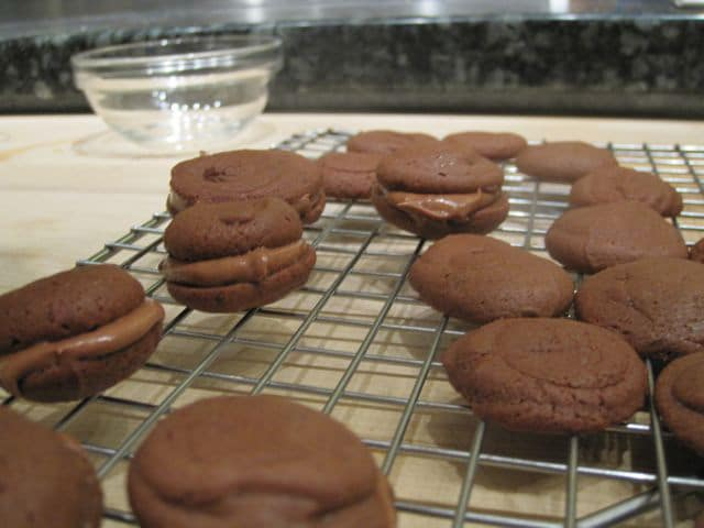 Chocolate Sandwich Cookies - Chocolate... lots and lots of glorious chocolate. Taking a chocolate cooking class at Sur La Table.