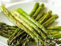 How to Roast Asparagus Pinterest Pin on ToriAvey.com