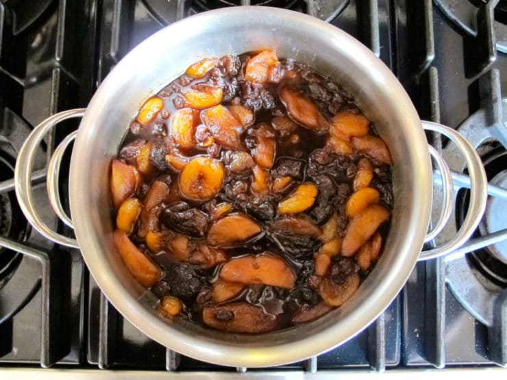 Apples simmered down with plums.