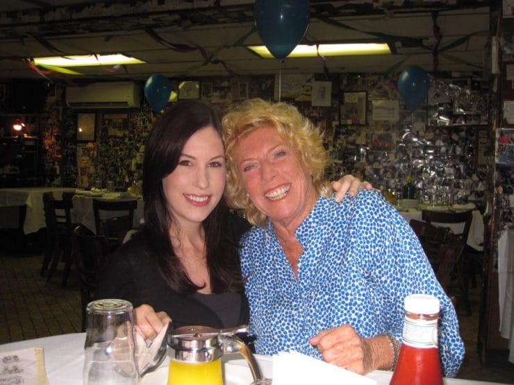 Me and Beth at Sammy's Roumanian