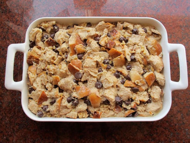 Challah Bread Pudding with Kahlua Cream Sauce Recipe