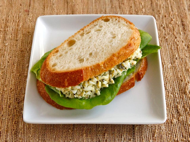 Lightened Up Egg Salad #healthy #recipe