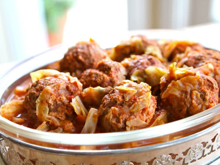 Unstuffed Cabbage - Delicious recipe for an easier way to capture the flavor of savory stuffed cabbage without all the work. Kosher for Passover.