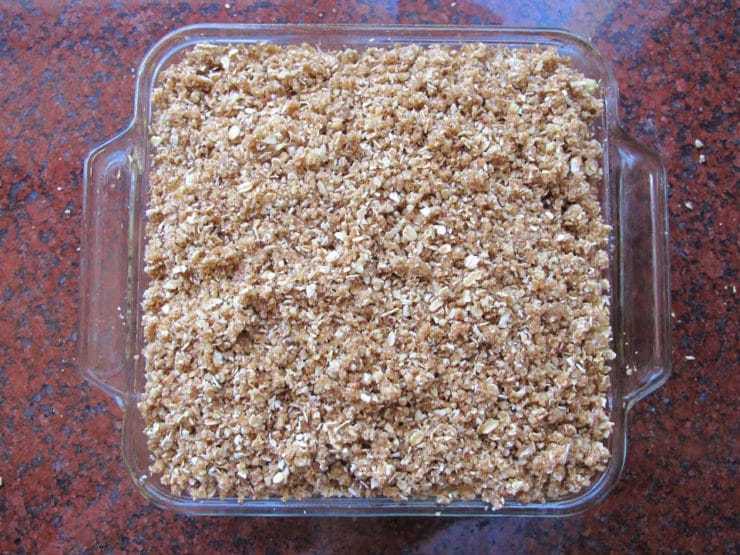 A recipe for Old Fashioned Oat Nut Apple Crisp and the story of Johnny Appleseed on The History Kitchen
