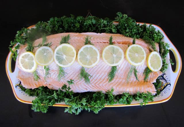 How to Poach Fish Fillets - Learn how to poach whole fish filets in court bouillon. Includes recipe for lemon dijon sauce and herb mayo. Kosher, Dairy, Pareve, Rosh Hashanah.
