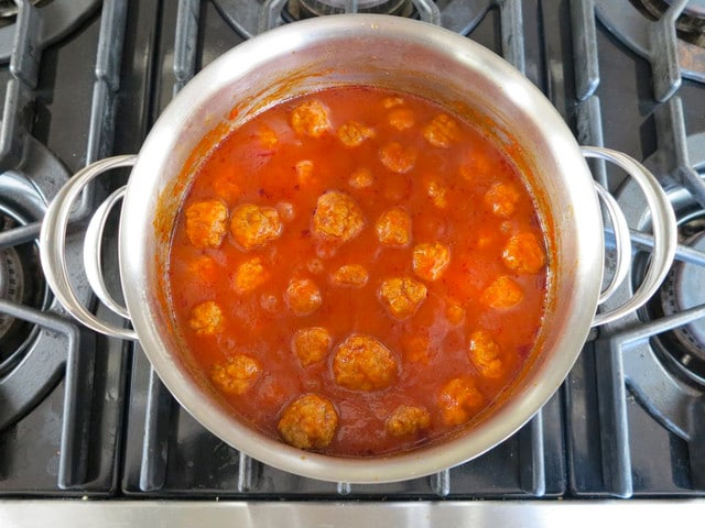 Sweet and Sour Meatballs - Tori Avey