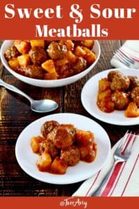 Sweet and Sour Meatballs Pinterest Pin