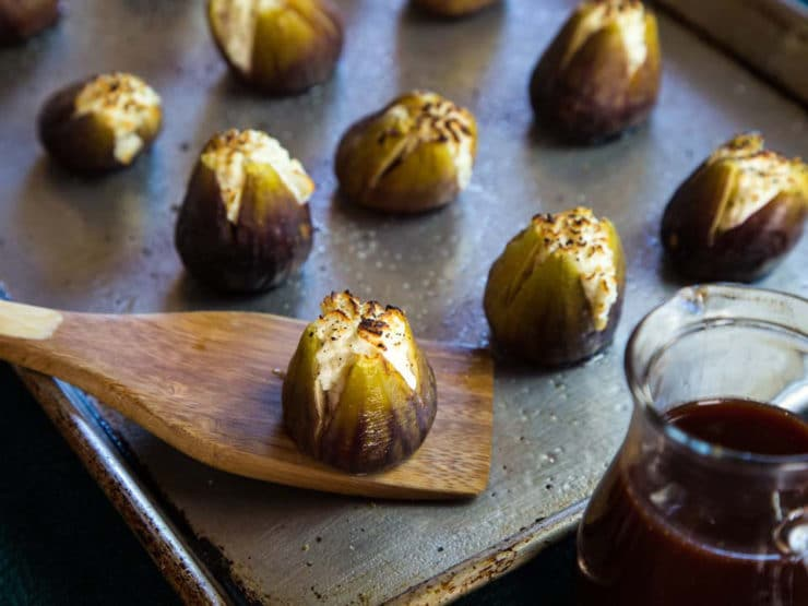 Broiled, stuffed figs.