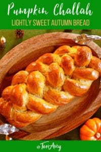 Pumpkin Challah Pinterest Pin on ToriAvey.com