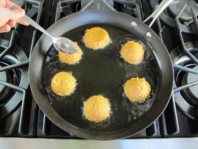 Sweet Potato Coconut Chremslach - Sweet Potato Pancake Recipe for Hanukkah, Thanksgiving, Thanksgivukah Holidays