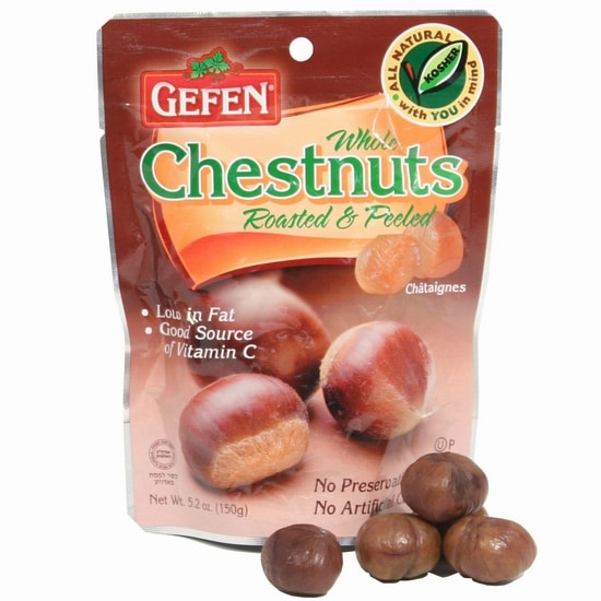 Challah Chestnut Stuffing - A savory kosher stuffing with challah, chestnuts, carrots, celery, and herbs. Kosher, Meat or Pareve, Thanksgiving, holidays.