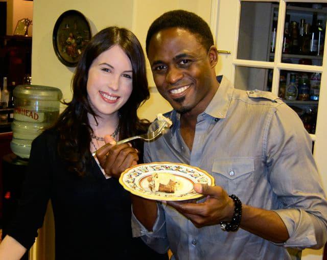 Wayne Brady and Tori Avey