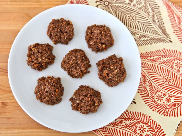 Aunt Pauline's Missouri Cookies - Vintage family recipe for easy no-bake Missouri Cookies with oats, cocoa, butter, sugar, milk, and peanut butter.