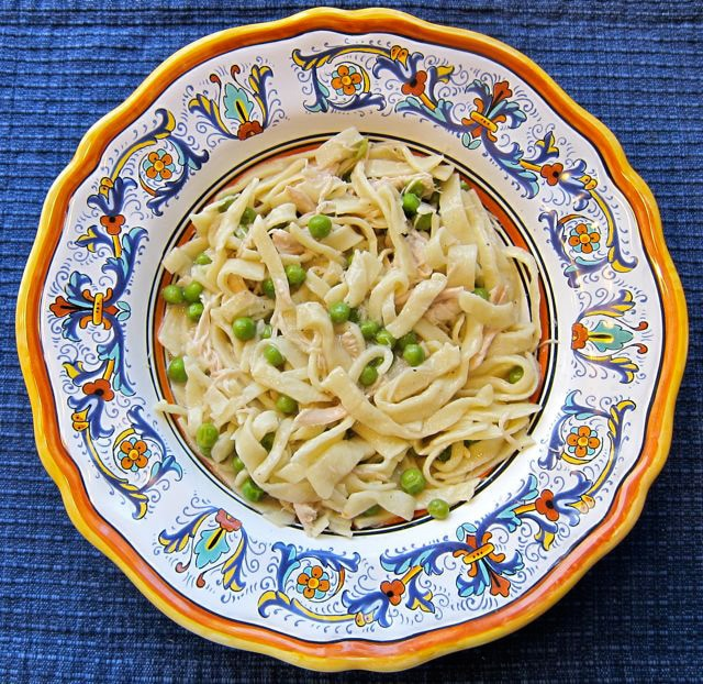 Chicken and Noodles with Peas