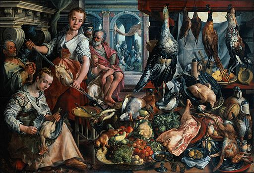Bueckelaer,_Joachim_-_Well-Stocked_Kitchen,_and_Jesus_in_the_house_of_Martha_and_Mary_in_the_background,_the