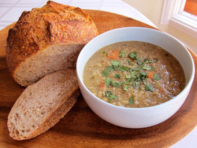 What the Ancient Israelites Ate - Historical recipe for Jacob's Lentil Stew and background on ancient Israelite food and cooking. Torah, Biblical cooking, Israel, Neot Kedumim