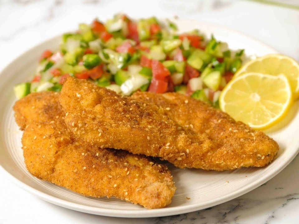 Chicken Schnitzel Golden Crispy Fried Chicken Breasts