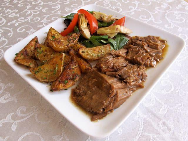 Savory Herb Braised Brisket - Passover Recipe
