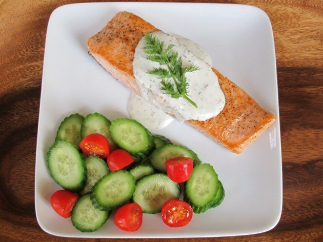 creamy dill dressing salmon with garlic lemon and dill smoked salmon ...