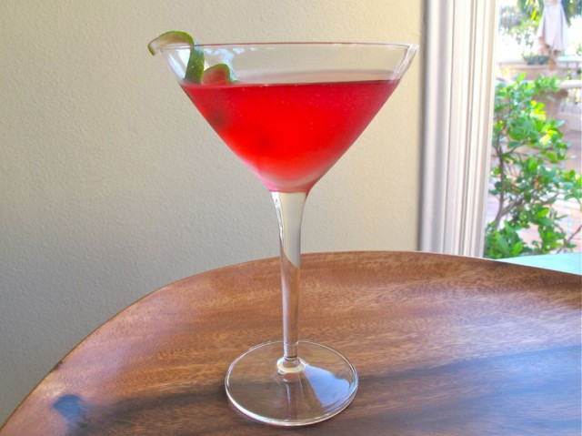 The Kosher Cosmo - Classic cranberry cosmopolitan martini made with kosher mixers. This sophisticated cosmo martini is always a crowd pleaser.