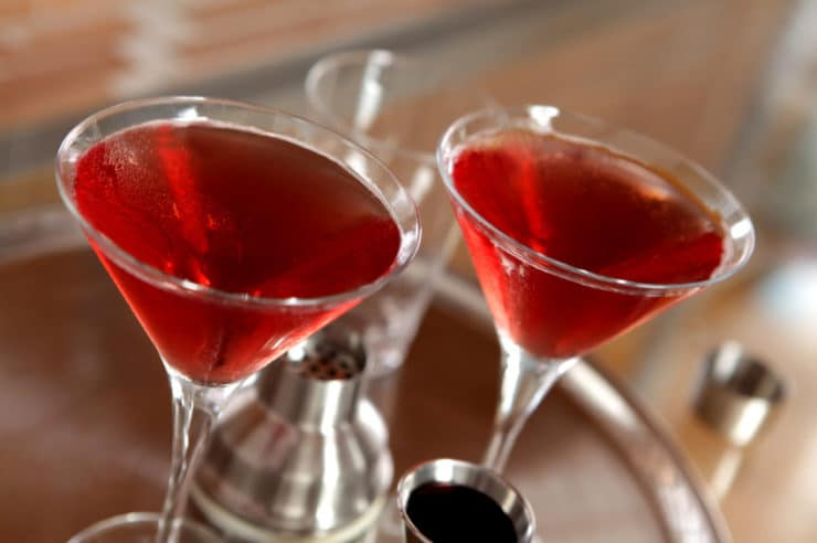 Kosher Cocktails for Purim - A list of kosher cocktails for Purim, including recipes for Kosher Cosmo, Purim Pucker, Pomegranate Martini, non-alcoholic punch for kids & more.