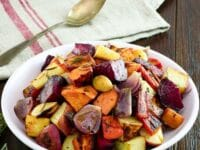 Oven Roasted Root Vegetables Pinterest Pin on ToriAvey.com