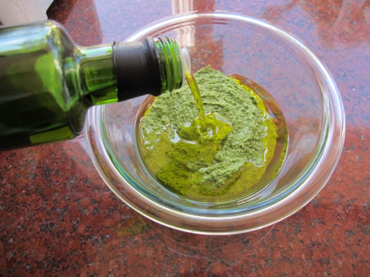 How to Make Fresh Italian Basil Pesto - Learn the origins of healthy Italian basil pesto sauce. Includes two recipes for pesto, traditional and dairy-free. Kosher for Passover, Pareve.