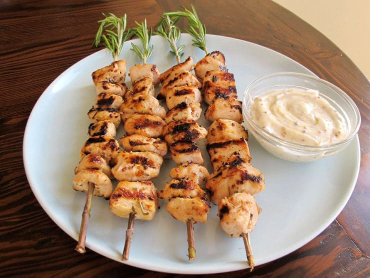 Rosemary Lemon Chicken Skewers 11