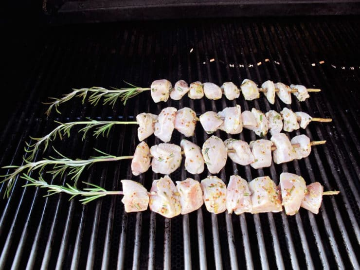 Rosemary Lemon Chicken Skewers with Dijon Mayonnaise