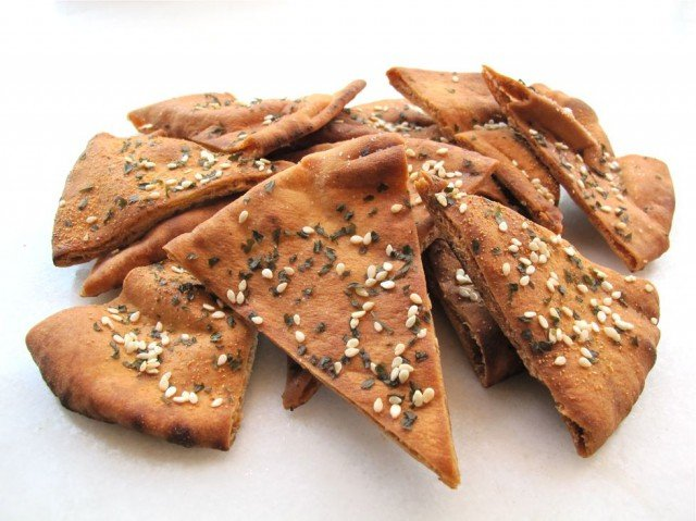 Baked Pita Chips - Learn to make delicious seasoned pita chips that are baked, not fried, for a healthy and delicious crunch your guests will love. Kosher, Pareve.