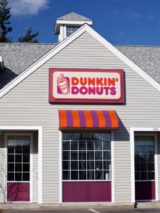 Dunkin' Doughnuts Storefront on sunny day