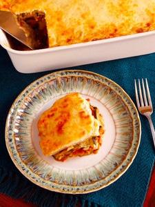 Roasted Vegetable Moussaka - Greek-Inspired Vegetarian Recipe by Tori Avey