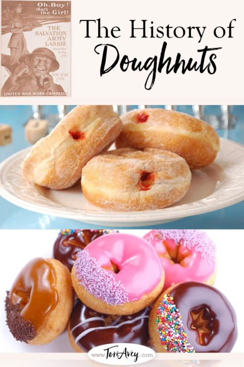 The History of Donuts Pinterest Pin on ToriAvey.com