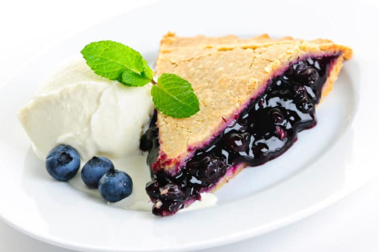 were often baked into pies and over time blueberry pie became the ...