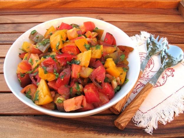 Marinated Heirloom Tomato Salad - Healthy Summer Recipe