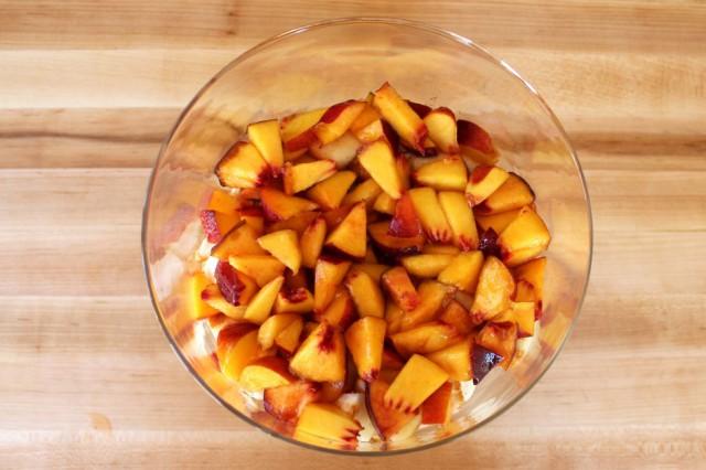 cream pudding peaches and cream trifle tipsy trifle with peaches peach ...