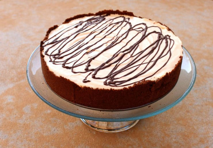 A Peanut Butter Pie for Mikey - A no-bake peanut butter chocolate pie with cookie crust in honor of food blogger Jennifer Perillo's husband Mikey. Kosher, Dairy.