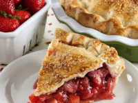 Strawberry Rhubarb Pie Pinterest image