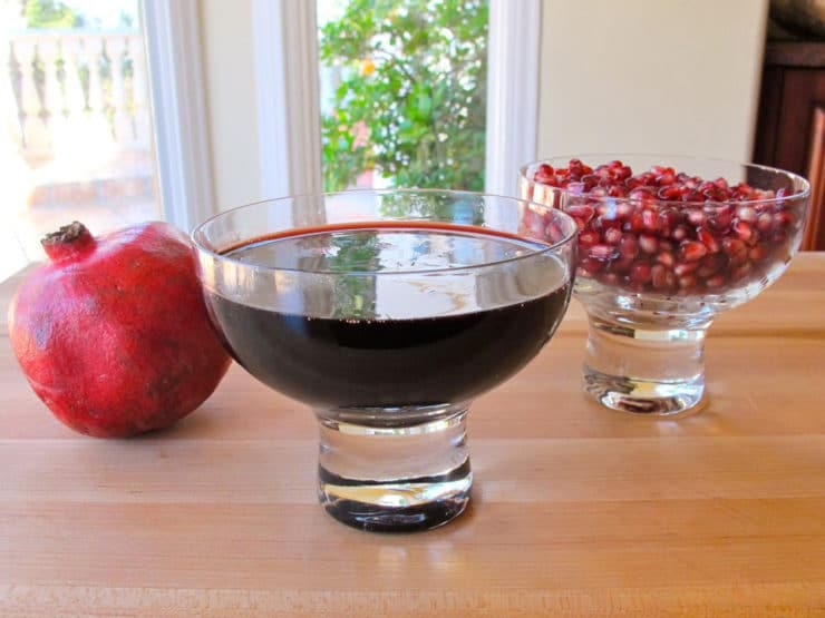Pomegranate Molasses - Learn how to make pomegranate molasses, also known as pomegranate syrup. Use as a sauce, marinade, dressing, or a sweet and tart dessert topping.