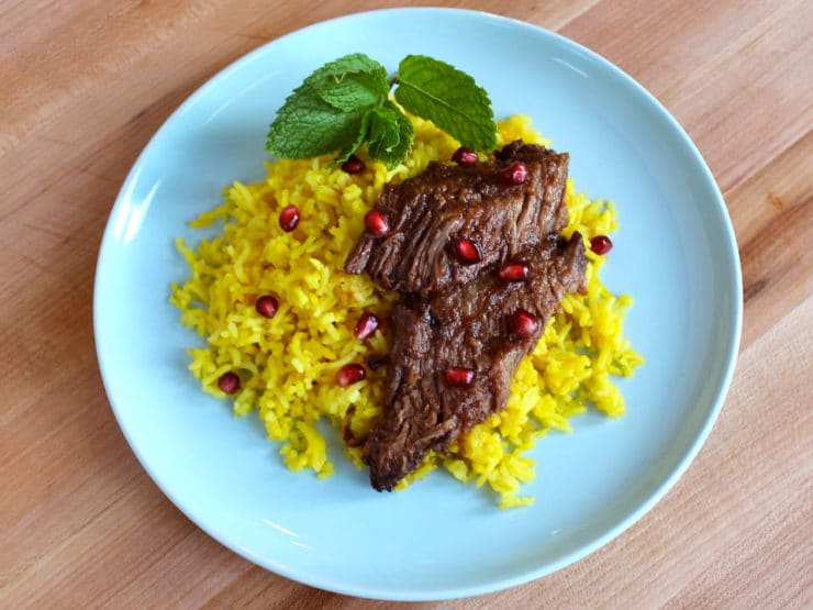 Pomegranate Molasses Brisket | Tori Avey