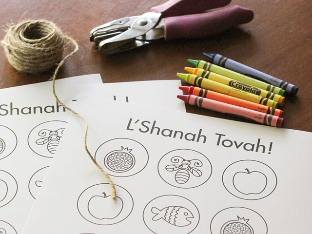 Rosh Hashanah Coloring Craft
