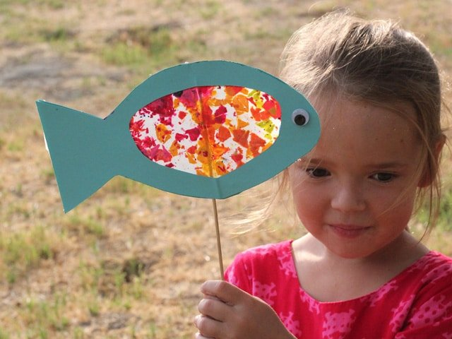 Stained Glass Fish for Rosh Hashanah